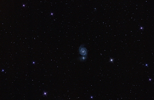 M51 - widefield - 230312 - 60mins by Mick Hyde