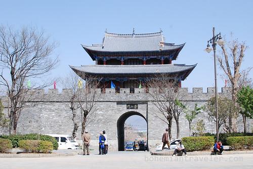 west gate in Dali Yunnan China