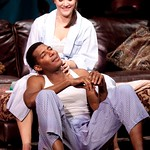 Rosie Benton as Kimber and Billy Eugene Jones as Flip in the huntington Theatre Company's production of STICK FLY playing at the Calderwood Pavilion. Part of the 2009-2010 season.