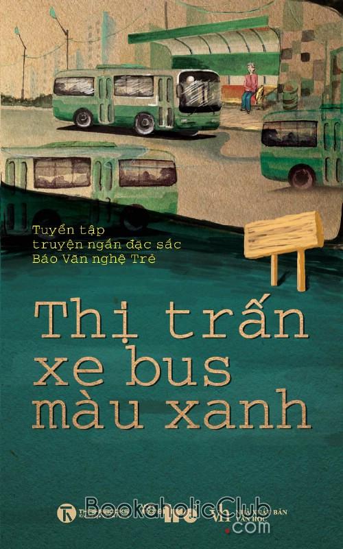 thi tran xe bus mau xanh