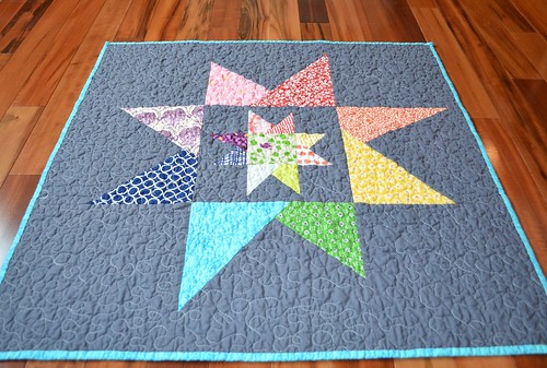 Liberated (emergency) Baby Quilt - back