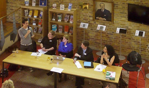 ccSalon London Panel: Victor Henning, Amber Thomas, Cathy Casserly, Patrick McAndrew, Joscelyn Upendran photo by David Percy