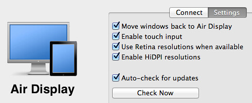 Enabling HiDPI resolutions in Air Display for Mac