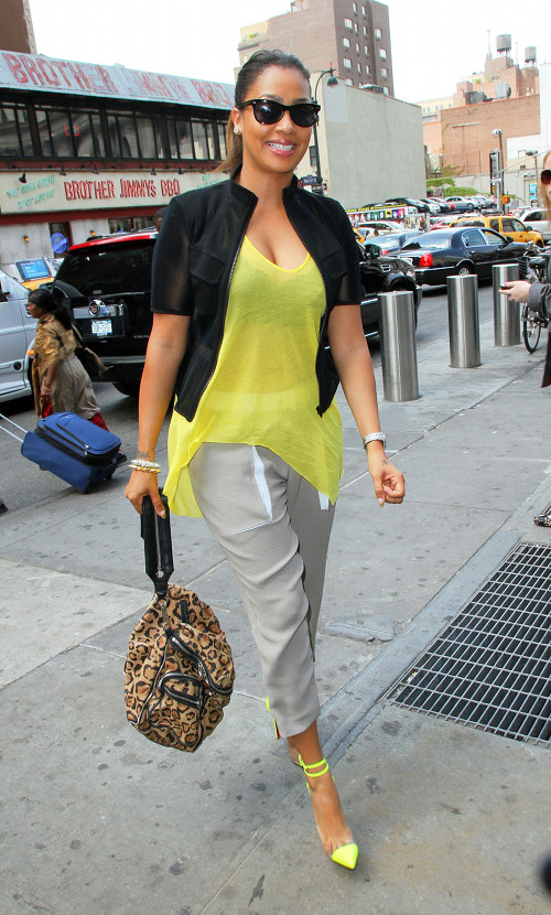 f7a5d__Lala-Anthonys-Madison-Square-Garden-Elizabeth-James-Yellow-Asymmetrical-Top-Helmut-Lang-Drawstring-Pants-Christian-Louboutin-Unbout-Illusion-Pumps-and-Alexander-Wang-Jane-Leopard-Shoulder-Bag