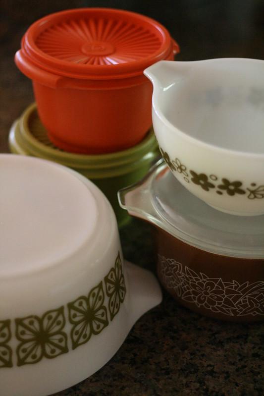vintage pyrex & tupperware