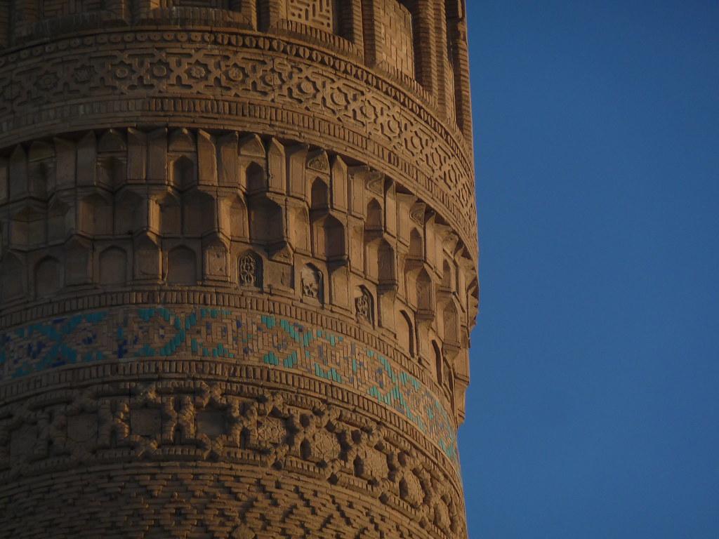 Detall del Minaret de Kalon, Bukhara (Uzbekistan)