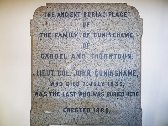 Cuninghame Memorial Stone, Kilmaurs