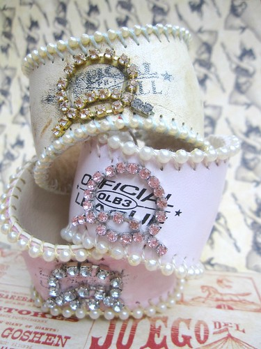 Custom Shabby Baseball Cuffs! 10
