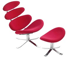 Petal Lounge Chair With Ottoman By Zuo Modern