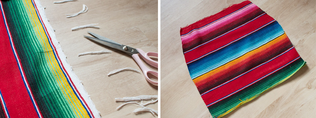 diy mexican rug skirt process2