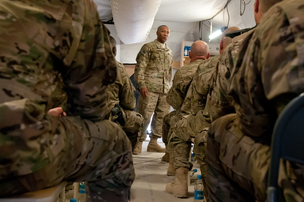 CSM Capel delivers message to troops