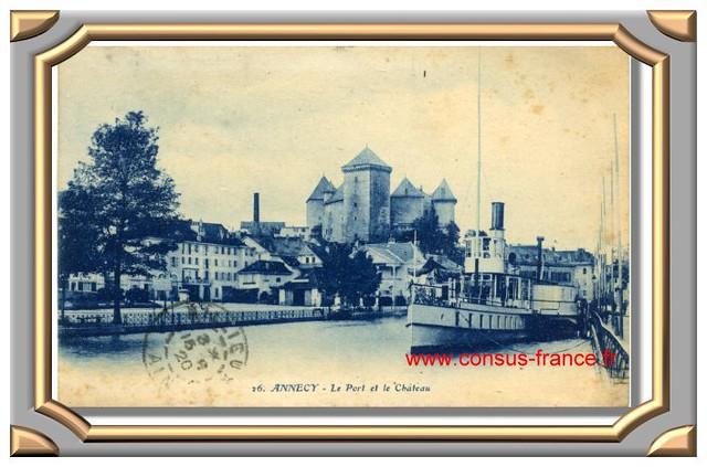 ANNECY - Le Port et le Château -70-150