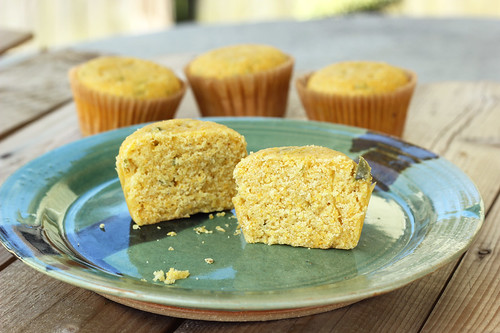 Jalapeño Corn Bread Muffins - Gluten-free + Dairy-free