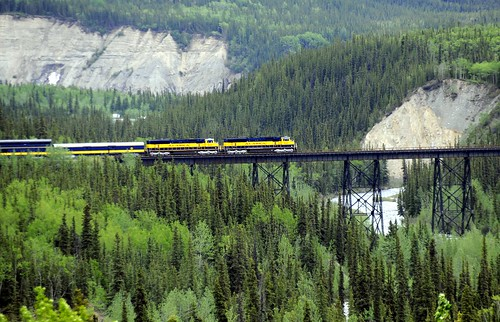 Alaska Railroad Bridge, Denali National Park by RV Bob