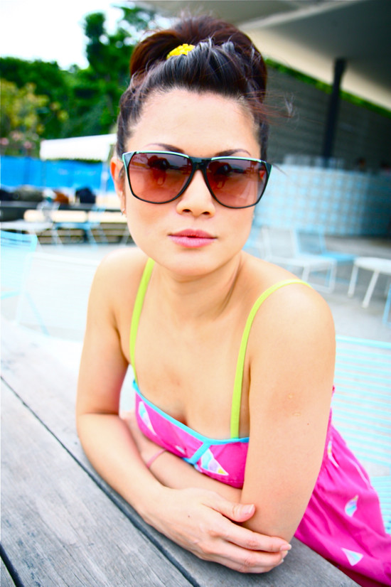 Vintage sunglasses give that oomph to any beach outfit!