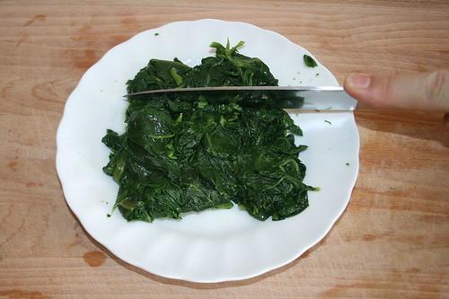 14 - Spinat zerkleinern / Cut spinach