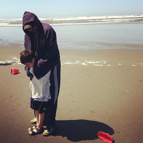 Okay so it's a smidge cold at the ocean.