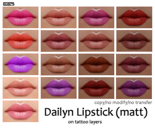 Dailyn Lipstick (matt) (sold extra, not included with skin)