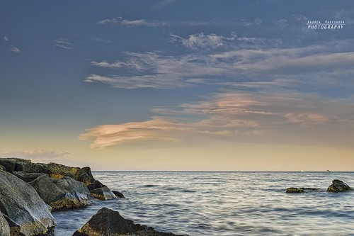 Lenticular clouds on the horizon