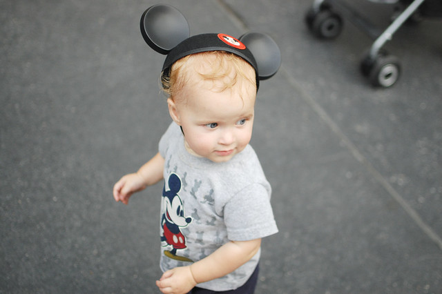 George in his Mickey ears.