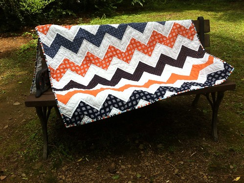Orange/navy chevrons