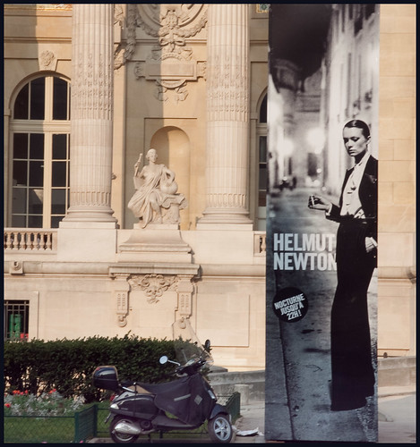 helmut newton in paris by hans van egdom