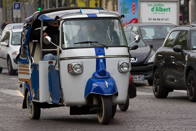 piaggio tuk tuk in paris flickr photo sharing. Black Bedroom Furniture Sets. Home Design Ideas