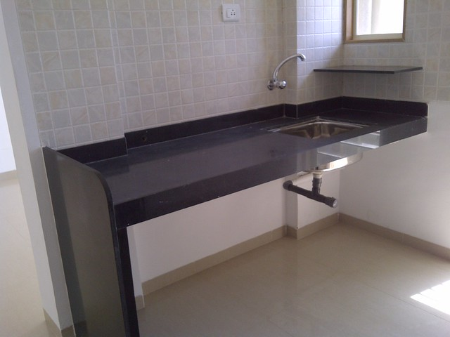 Granite Kitchen Platform With Stainless Steel Sink In The Sample Flat Of Kanchan Vrundavan