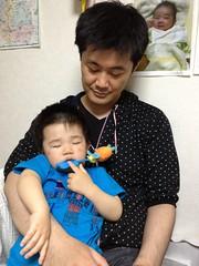眠くて騒いだあとに寝ちゃったとらちゃん(2012/5/19)