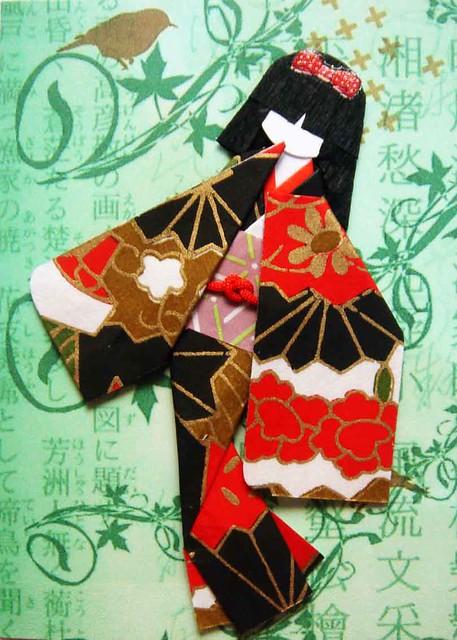 Origami: very simple kimono - YouTube