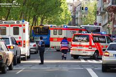 Verletzte nach Unfall mit Bus 22.05.12