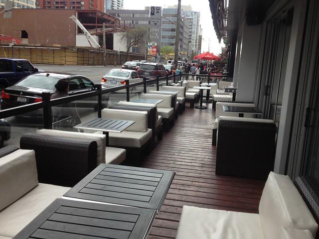 Patio furniture at toronto restaurant flickr photo