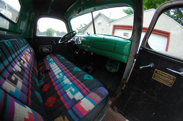 1946 chevy truck interior flickr photo sharing. Black Bedroom Furniture Sets. Home Design Ideas