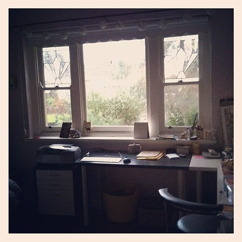 Tucked up in my studio staying cosy & warm today.