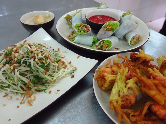Paw Paw Salad, Pho Cuon, West Lake Shrimp Cake