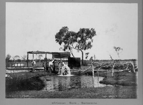 Artesian bore on Mr. Cronin's farm, Balcaldine, Australia