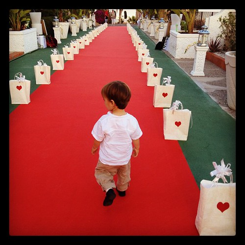 Last Saturday, his first red carpet / En la alfombra roja