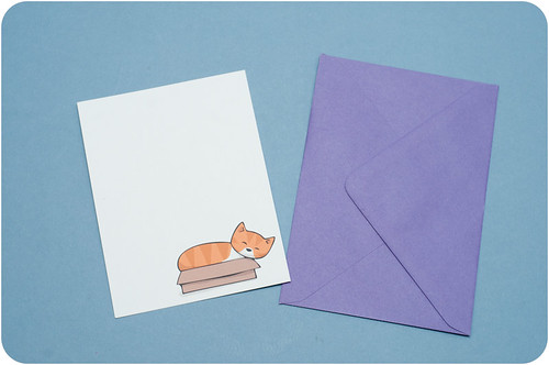 Cat in a box notecards