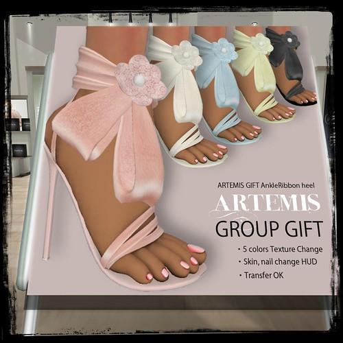 ARTEMIS GIFT AnkleRibbon heel (members only) by Cherokeeh Asteria