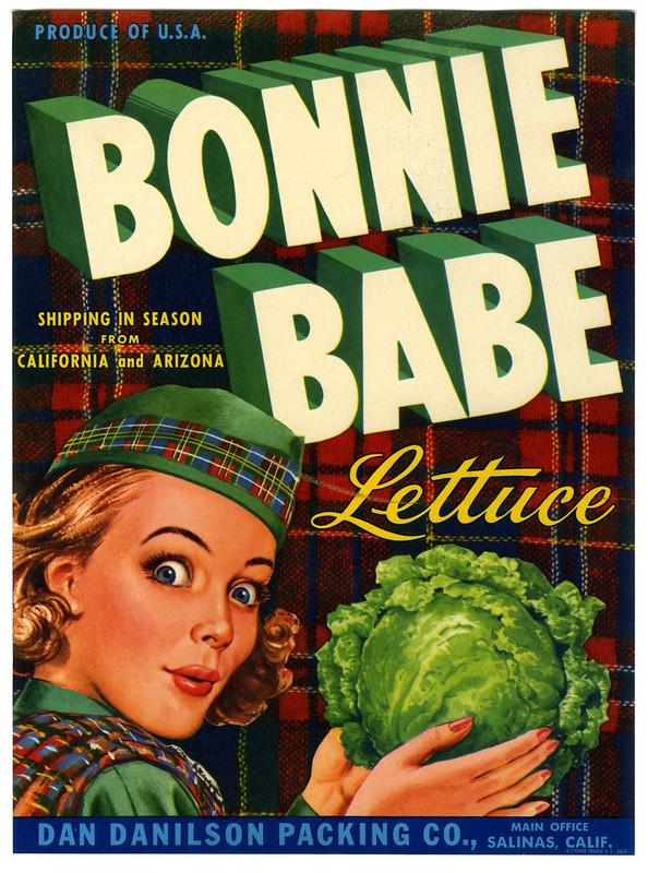Bonnie Babe lettuce crate label