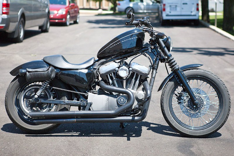 D&D Straight Drag Pipes, Shortening? - The Sportster and