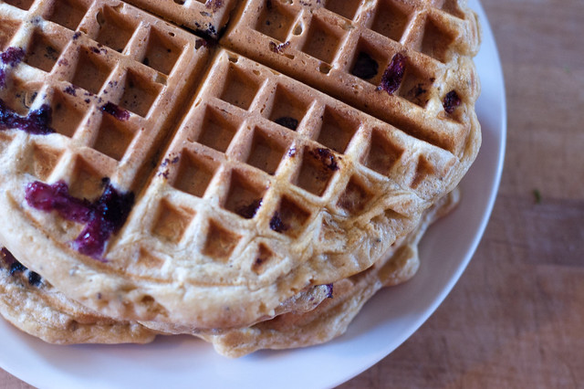 Whole Wheat Blueberry Waffles