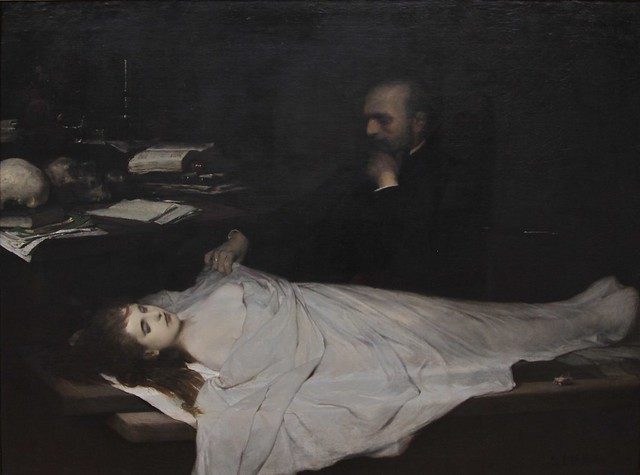 """Gabriel von Max. """"The Anatomist"""" (1869)"""