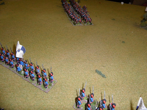 British cavalry enfiladed by Grenadiers