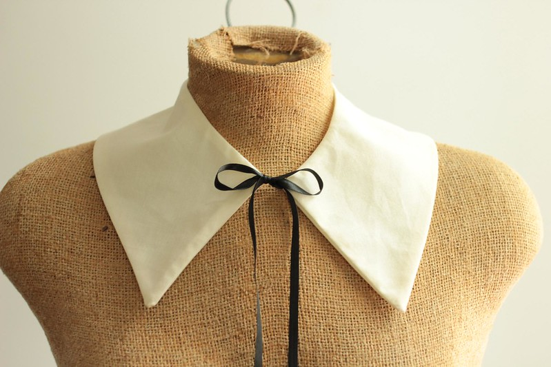 A common thread diy detachable collar pattern how to for Peter pan shirt pattern