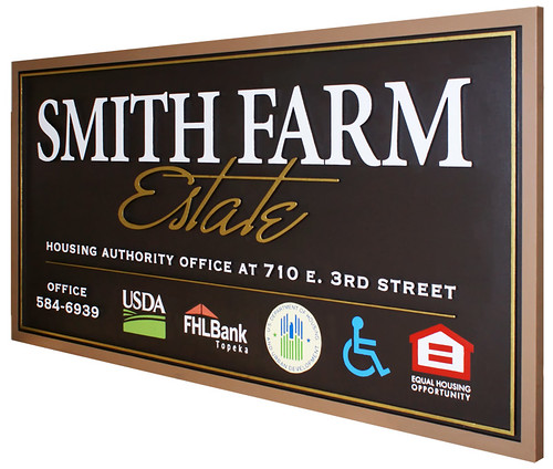 Farm and Housing Authority Sign by Strata Signs