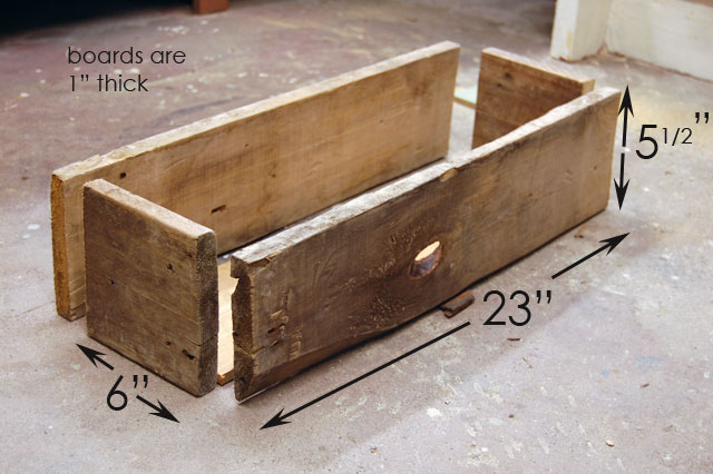 how to build a simple rustic planter box the art of doing. Black Bedroom Furniture Sets. Home Design Ideas