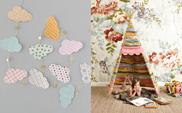 spring things I'm loving right now (Cloud garland by deconohut / Teepee by Mokkasin, photography by Jonas Gustavsson) | Emma Lamb