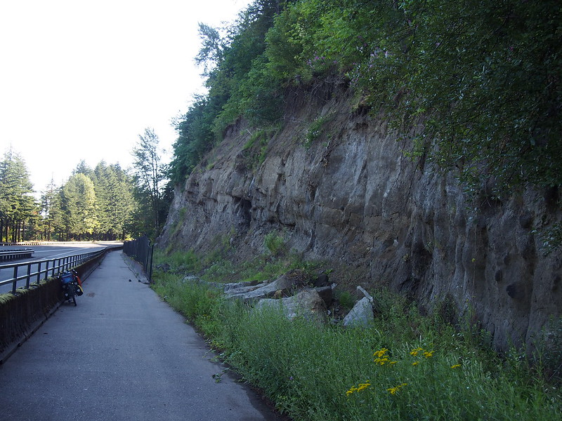 Historic Columbia River Highway State Trail: Exposed Rock