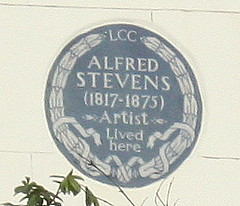 Photo of Alfred Stevens blue plaque